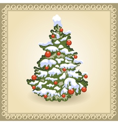 Christmas tree 10 vector image vector image
