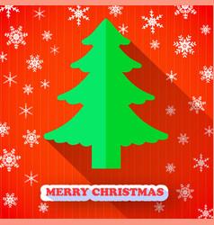 Christmas tree postcard vector