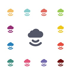 cloud flat icons set vector image
