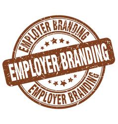 Employer branding brown grunge stamp vector