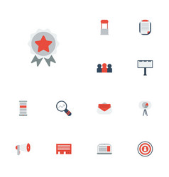 flat icons megaphone audience letter and other vector image