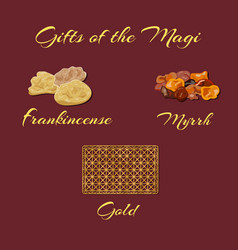 gifts of the magi vector image