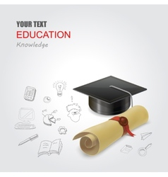 Graduation concept infographic elements design vector image vector image