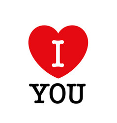 i love you beautiful vector image