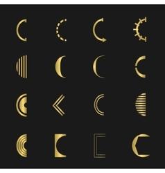 Letter C set vector image vector image