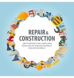 Repair and construction Collection of working vector image vector image