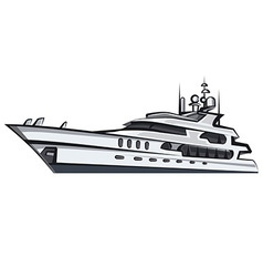 Sea yacht vector