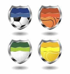 sport badges vector image