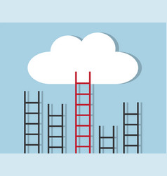 stairs to heaven vector image