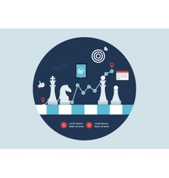 Strategy planning icons vector image vector image