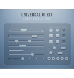 User interface elements with transparency vector image