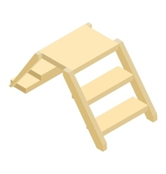 Wooden ladder isometric 3d icon vector