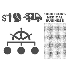 Rule icon with 1000 medical business pictograms vector