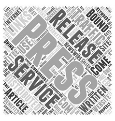 The benefits of press releases word cloud concept vector