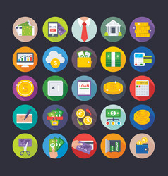 Banking and finance icons 1 vector