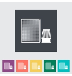 Automotive filter flat icon vector