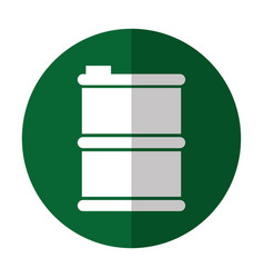 metalic tank isolated icon vector image