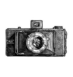 Folding camera vector