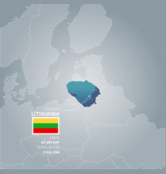 Lithuania information map vector