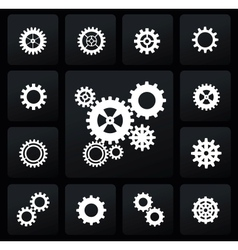 Gearwheel mechanism icon vector