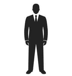 Businessman standing black web icon vector