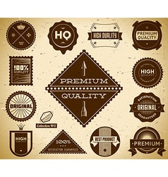 Vintage labels collection 5 vector