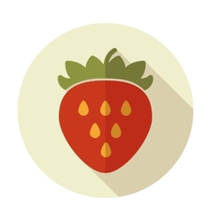 Strawberry flat icon with long shadow vector