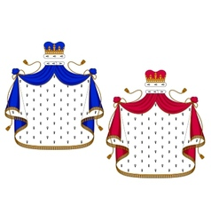 Blue and purple royal mantles vector