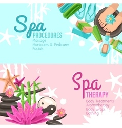 Spa banners set vector