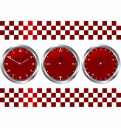 Time and checkered flag vector