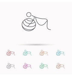Gymnastic for pregnant icon pilates fitness vector