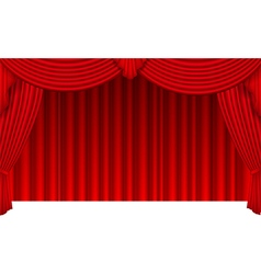 Curtain background isolated on white vector image