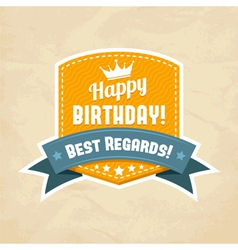 For happy birthday card vector