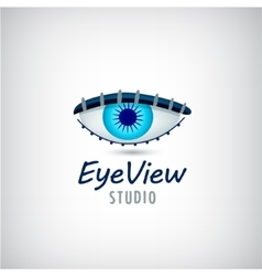 Eye logo visual media sign vector