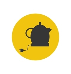 Electric kettle silhouette vector
