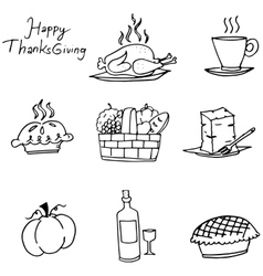 Doodle of thanksgiving element party vector