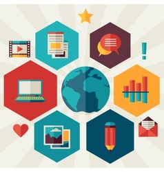 Blog concept in flat design style vector image vector image