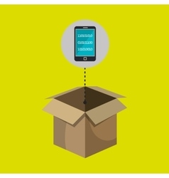 Box smartphone code binary vector