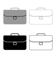 briefcase icon grey and black color vector image vector image