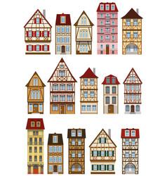 classic european houses vector image