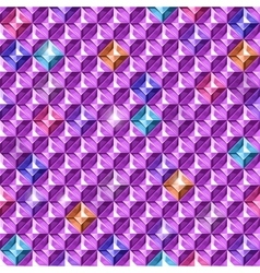 Colored diamonds texture vector image