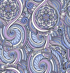 Colorful seamless pattern in a zentangle style vector image