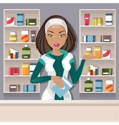 Female pharmacist vector image vector image