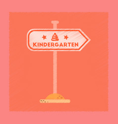 Flat shading style icon sign kindergarten vector