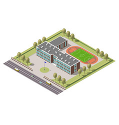 isometric infographic element or university vector image vector image