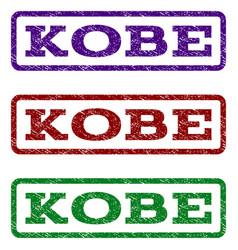 kobe watermark stamp vector image