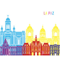 la paz skyline pop vector image vector image