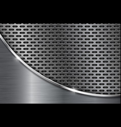 Metal perforated background with silver wave vector