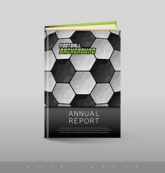 Modern abstract brochure as book football theme vector