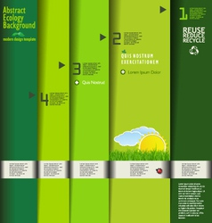 Modern green ecology design template vector image